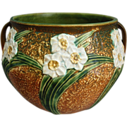 "Roseville Pottery Jonquil Jardiniere #621-7"", Circa 1930"