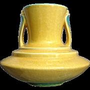 "Roseville Pottery Orian Vase #737-7"", Yellow, Circa 1935"