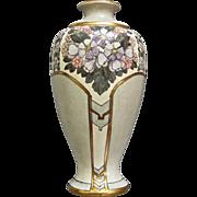 """American Satsuma"" Art Deco Vase, Circa 1930"