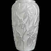 "SOLD Phoenix Glass ""Reuben Line"" Bittersweet Vase w/Label, White Wash, Ca. 1934"