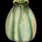 """8"""" Studio Pottery Pillow Vase w/Blended Glaze"""