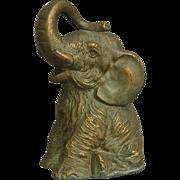 SOLD Vanio Cast Metal Elephant Bank, 1936