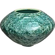 Studio Pottery Vase, Green Crystalline Glaze