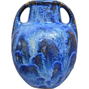 SOLD Fulper Pottery Vase #643, Blue Flambe', Circa 1925