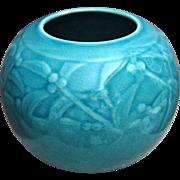 Rookwood Pottery Production Vase #6545, Turquoise, 1945