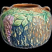 "Roseville Pottery Wisteria Vase #632-5"", Blue, Circa 1933"