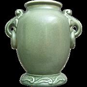 SOLD RumRill Pottery Vase #640, Green, Circa 1937