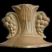 "Cowan Pottery 4"" Grape Candlestick #S-960, Parchment Green, Circa 1929"