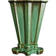 "Cowan Pottery Modernist Vase #V-852, ""Antique Green"" Glaze, Circa 1929"