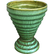 "Cowan Pottery Modernist Vase #V-853A, ""Antique Green"" Glaze, Circa 1929"