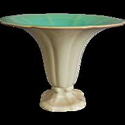 "Cowan Pottery ""Morning Glory"" Vase Ca. 1927, Green/Ivory"