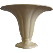 "REDUCED Cowan Pottery ""Morning Glory"" Vase Ca. 1927, Ivory"