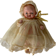 "SOLD 3"" All Jointed Bisque Baby Doll circa 1940"
