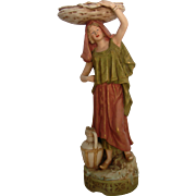 "Antique Royal Dux "" Peasant  Woman"""