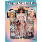"""Vintage Book """"Modern Collectible Dolls"""" Vol2 by Moyer"""