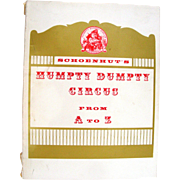 """Vintage Book """"Schoenhut's Humpty Dumpty Circus from A-Z"""""""