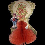 Vintage Honeycomb Valentine 1920's