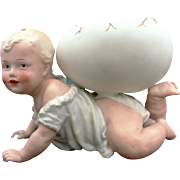 Gebruder Heubach German Baby with Egg Candy Container