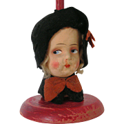Vintage Lady Head Hat Stand