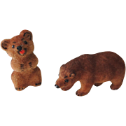 REDUCED Pair of Little German Kunstlerschutz Bears with Labels