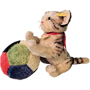 "SALE PENDING Darling Large Five Way Jointed Steiff ""Kitty"" And Large Colorful Steiff"