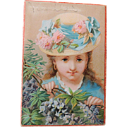 Lovely Jewelers Gift Box with Pretty Graphics of Young Girl * Boston