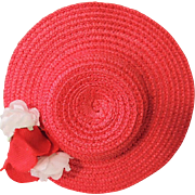 REDUCED Sweet Tagged Madame Alexander Red Straw Replacement Hat