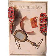"REDUCED ""Nouveaute De Paris"" French Fashion Accessories on Card In Box"