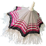 Lovely Magenta & Gray Replacement French Fashion Parasol