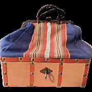 """SALE PENDING """"Sac Du Voyage"""" Travel Bag for Mignonettes or Pocket Dolls"""
