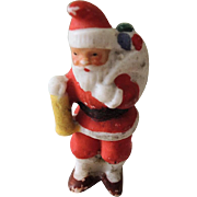 Tiny German Bisque Santa Christmas Figure