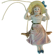 SOLD Sweet Little Girl Swinger with Big Hat