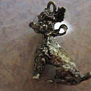 SALE Silver Poodle Charm