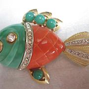 SALE Vintage Hattie Carnegie piranha Pin