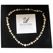 SALE Swarovski crystal necklace choker like new with original box and papers.