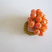 SALE Cluster Bead Ring, Possibly Designer