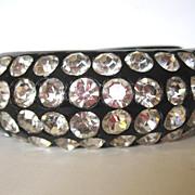 SALE Dazzling Black Clamper Rhinestone Bracelet