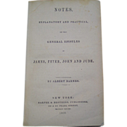REDUCED Barnes Notes 1856 Explanatory & Practical on General Epistles