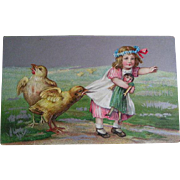 Postcard lot of Seven; Easter early 1900's (1)