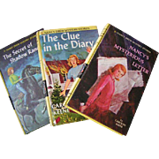 REDUCED Nancy Drew THREE 1960's volumes; very clean