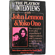 REDUCED John Lennon and Yoko Ono interviews; First Edition, Playboy Press, 1981