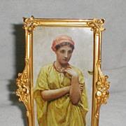 Gold-Plated Brass Art Nouveau Frame ca. 1890-1900