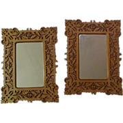 1880s Scroll-Saw Fretwork Filigree Frames  PAIR