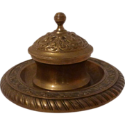 Brass AESTHETIC Movement Inkwell 19th C.