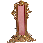 Unusual BRASS Thermometer Frame ca. 1900
