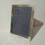 ARTS & CRAFTS Hammered Sterling Picture  Frame