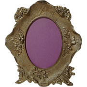 AESTHETIC Movement Cast Iron Picture Frame w/Butterfly