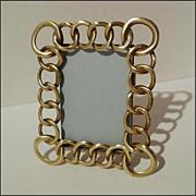 "SOLD ANTIQUE English Brass  ""RING""  Frame w/Larger Corner  Rings"