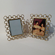 SOLD Brass RING and BALL  Antique Frames     PAIR