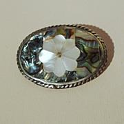 MEXICO ALPACA Abalone and M-O-P Vintage Pin/Pendant